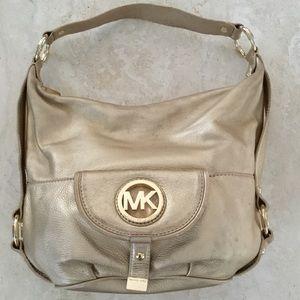 Michael Kors Gold Shoulder Bag